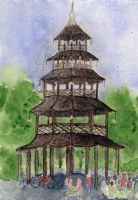 Afternoon at the Chinese Tower by Dulliros