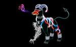 Cyborg Houndoom Wallpaper by PorkyMeansBusiness