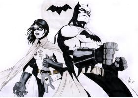 Batman and Monica by Miclix0458