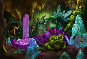Faerie caves by Sethmonster