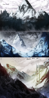 Snow Mountain Speedpaints by Hepoth