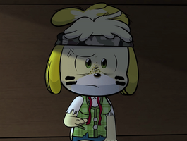 Isabelle Flexing Biceps Animation 2 by DerpyDash64