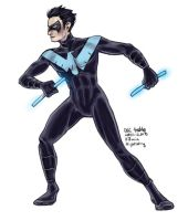Daily Sketches Nightwing by fedde