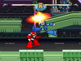 Mega Man X VS. Classic Mega Man (Took From MUGEN) by mm678910onroblox