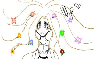 Hair of flowers-Wip by Lucy-Vampire-FIRE