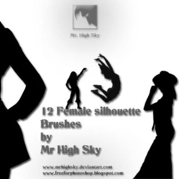 Female Silhouette Brushes by MrHighsky