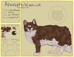 AW   Quickheart   Thunderclan Warrior by Nermsters