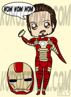 Chibi Tony says Nom by kuroitenshi13