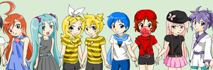 Vocaloid Kids by pinkkittypower