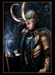 Loki in acryl and gold by eleathyra
