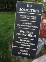 No Soliciting by xDeseo