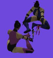 Kitana and Mileena play dolls by Simony17y