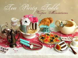 Alice's Tea Party - Table One by vesssper