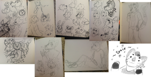 traditional sketch dump by catdoq