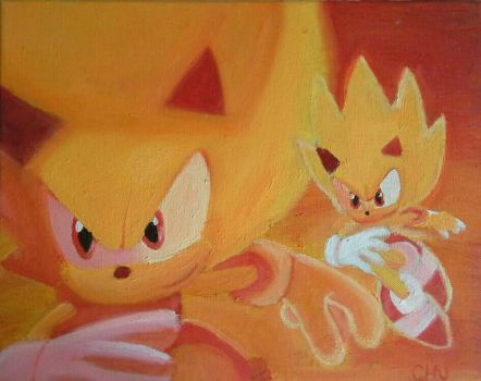 Super Sonic the hedgehog by pikaboo2002