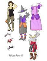 paper doll halloween by electricjesuscorpse