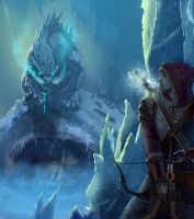 The Archer and the Winter Dragon by jakeandersonstudio