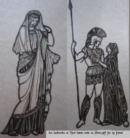 Helen \ Hector and Andromache by ShadeOvWarlock