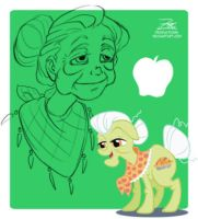 MLP - Granny Smith Sketch by ZOE-Productions