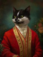 The Hermitage Court waiter cat by EldarZakirov