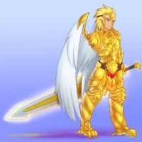 Gold Armor (Commission) by JonFawkes