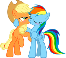 Dashie Immortalizes Applejack by NikkiKitty44