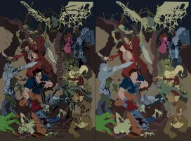 Army of Darkness unused cover FLATS- Nick Bradshaw by XganglyX
