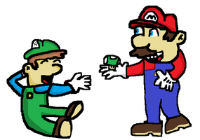 Mario Gives me a 1-up. by TheAmazingNSixtyfour