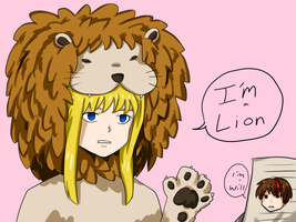 Lion is a lion by Tofucakes