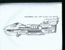 Neopian heavy Blockade cruiser by WMDiscovery93