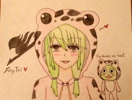 Fairy Tail frosch human ver. drawing by Harukuma