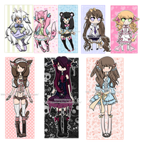 Remaining Adoptables#2  CLOSED by KimmyPeaches