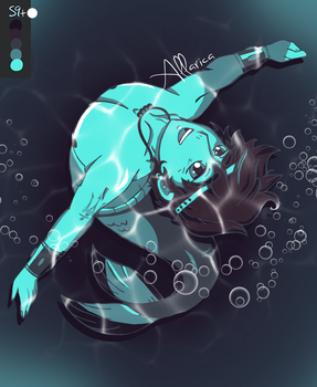 Mermaid!Percy, Palette 59 by allarica