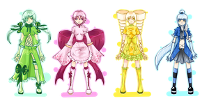 Magical girls Adoptable's - 4 $ by CandyBlade