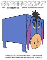 Cubeecraft - Eeyore by CyberDrone