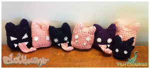 Cloudstone - Crocheted Fat Bats by AngryPotato