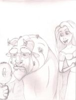 Beast and Rapunzel by Hiddenwithinthunder