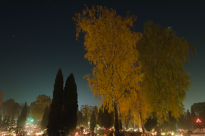 Cemetery at night. by marrciano