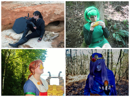 My Cosplays: Dark Link, Saria, Medli, and Vaati by OcarinaGreen