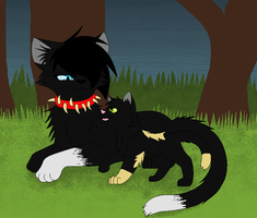 Sunkit and Scourge by NighshadeIceheart
