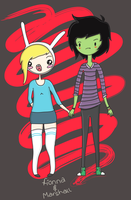 Fionna and Marshall Lee by Wayburs