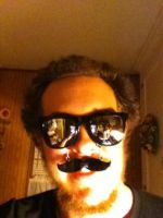 Mustache Glasses by UKD-DAWG