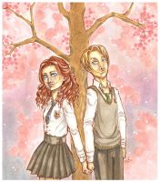 Rose + Scorpius again by Llallira
