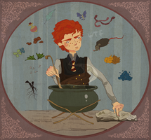Ron Weasley and potion by MarinaMichkina