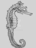 3-8-15 Seahorse Outline by artinthegarage