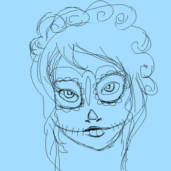 Day of the Dead Sketch-WIP by FistingPigs