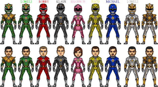 Mighty Morphing Power Rangers by UltimateLomeli