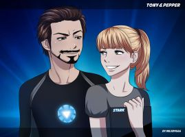 Tony and Pepper by Milady666