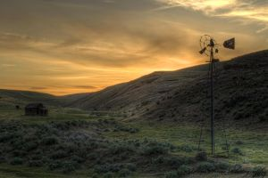 Shack and Windmill by adamsimsphotography