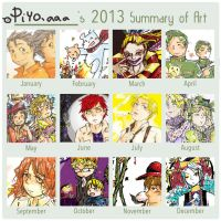Piyoaaa's 2013 Summary of art  by piyoaaa